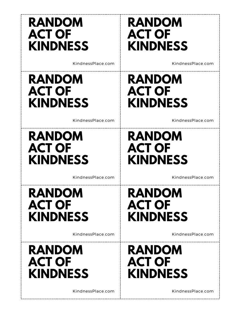 Free Random Act of Kindness Printables